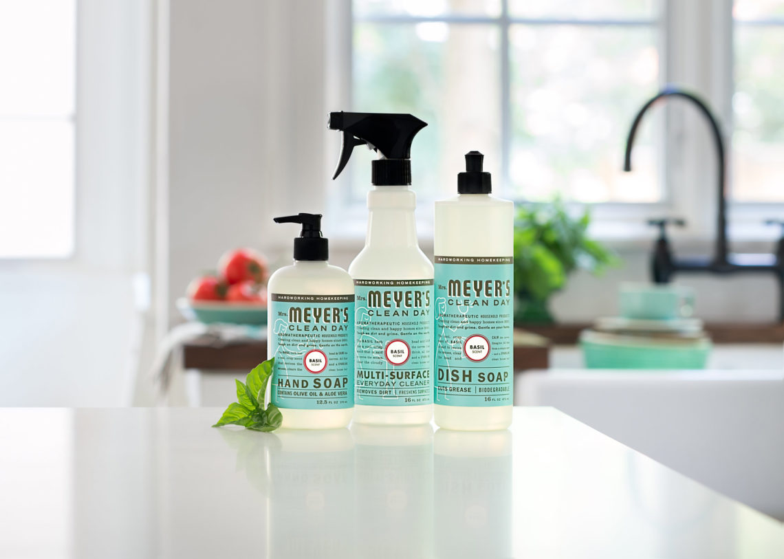 Affordable Cleaning Product Bottles On Kitchen Counter With Kitchen Counter  Cleaner