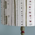 Piano print from Annie Sloan on a mid century modern lamp