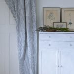 Annie Sloan classic cotton ticking used on curtains