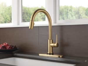 Delta faucet in champagne bronze gold tone